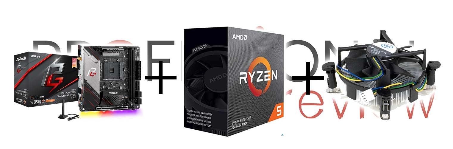 AMD Ryzen 3000 con disipador Intel