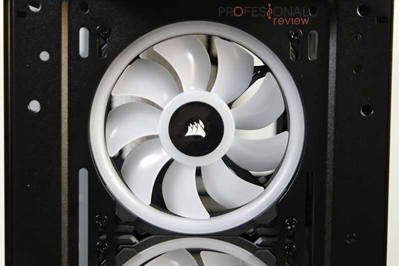 Corsair iCUE 465X RGB ventilación