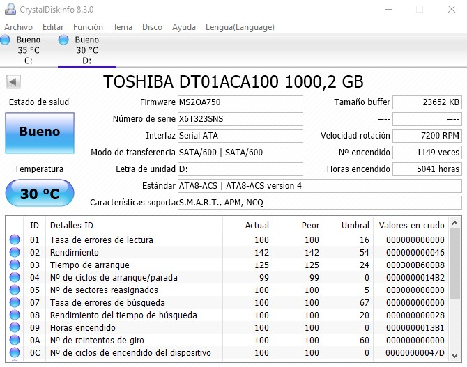 CrystalDiskInfo HDD