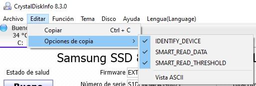 CrystalDiskInfo Editar