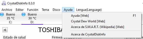 CrystalDiskInfo Ayuda
