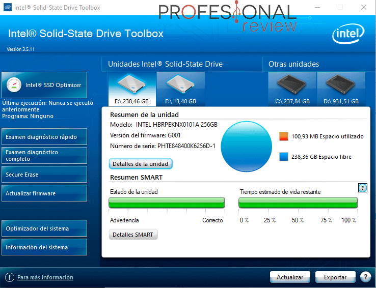 Intel Optane H10 software