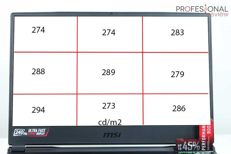 MSI GE65 Raider 9SF calibración