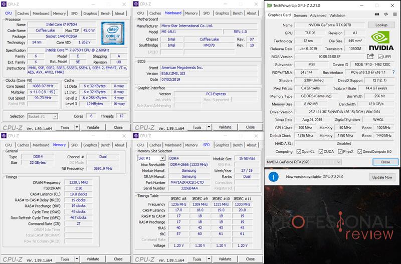 MSI GE65 Raider 9SF CPU