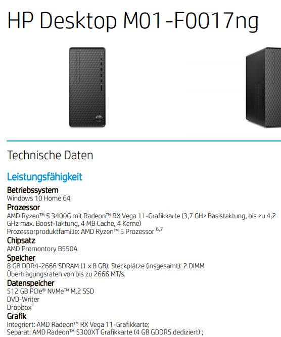 HP Desktop M01-F0017ng