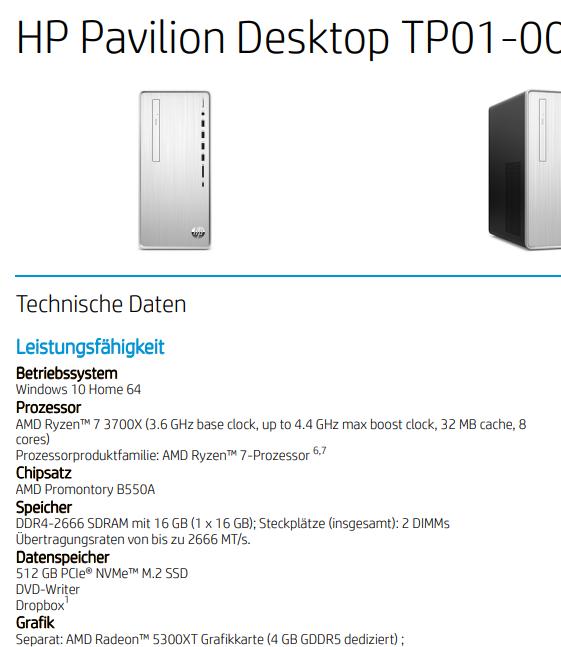 Ordenador HP con Radeon RX 5300 XT