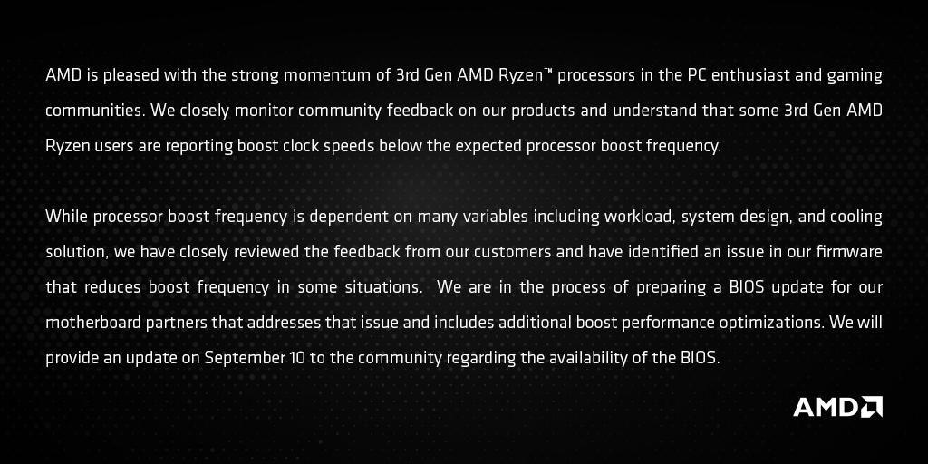 Declaración de AMD