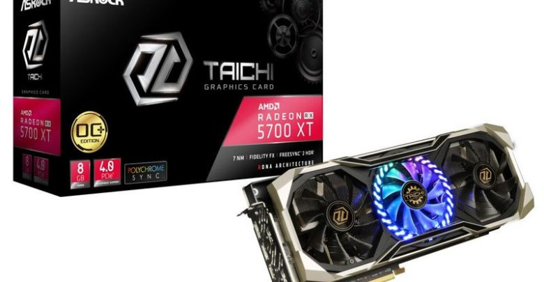 Photo of RX 5700 XT Taichi X 8G OC: ASRock comparte sus imágenes oficiales
