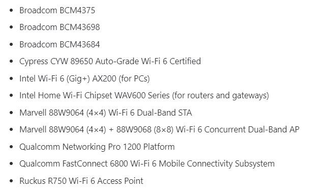 Primera docena de dispositivos certificados