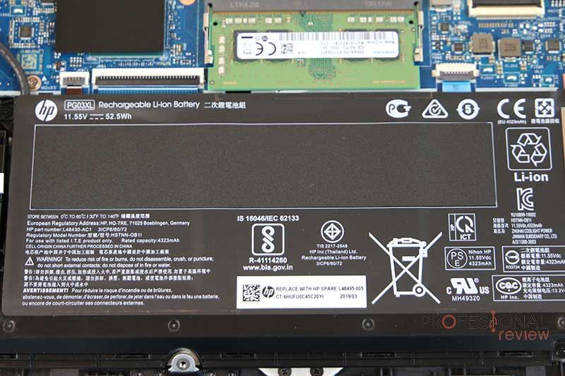 HP Pavilion 15-dk0010ns batería