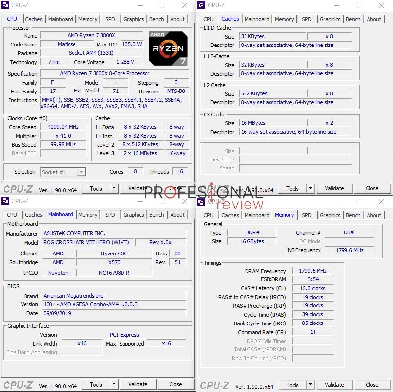 AMD Ryzen 7 3800X CPU-Z