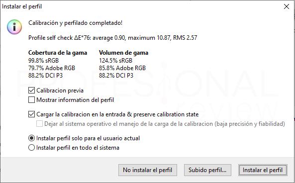 AORUS CV27Q calibración