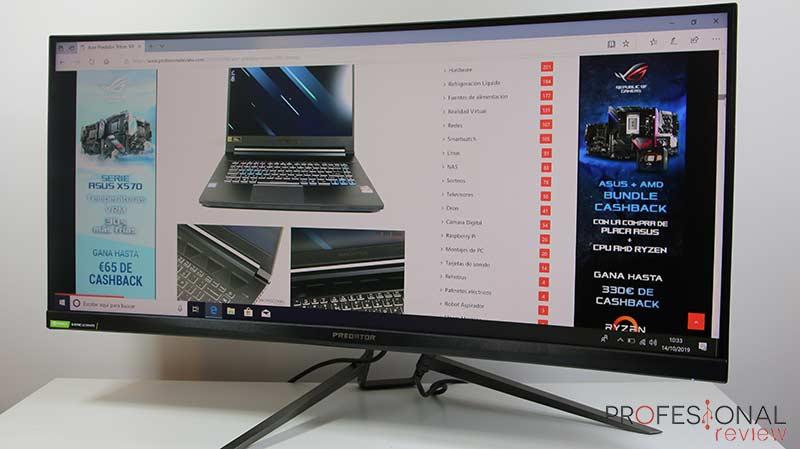 Acer Predator X35 Pantalla