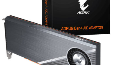 Photo of Adaptador AORUS AIC Gen 4 es anunciado para la llegada de TRX40