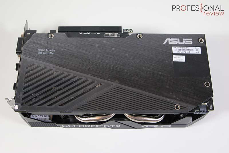 Asus GTX 1660 Super OC backplate
