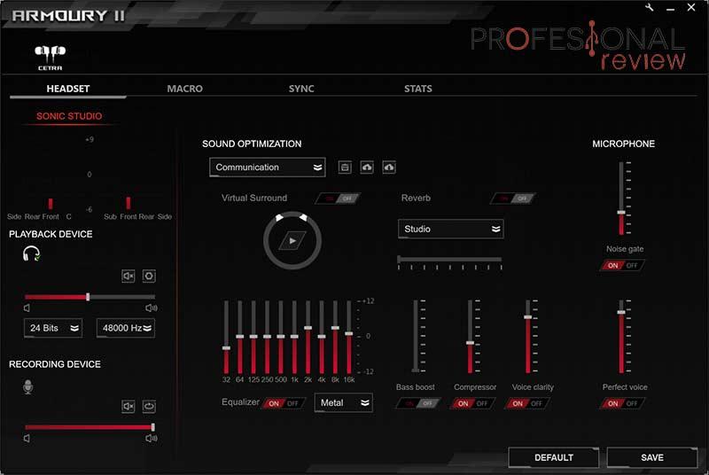 ASUS ROG Cetra Software