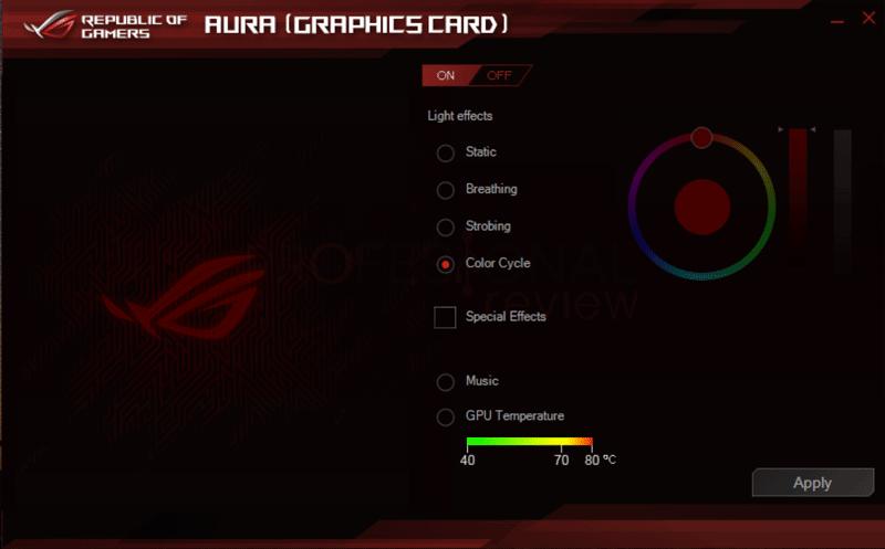 Asus ROG Strix RX 5700 XT Software