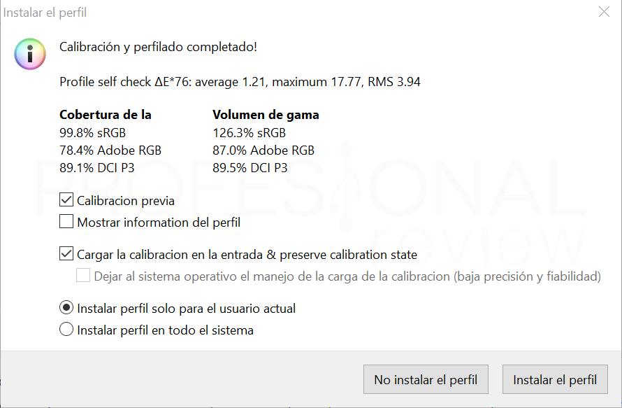 Asus ROG Strix XG438Q Calibración