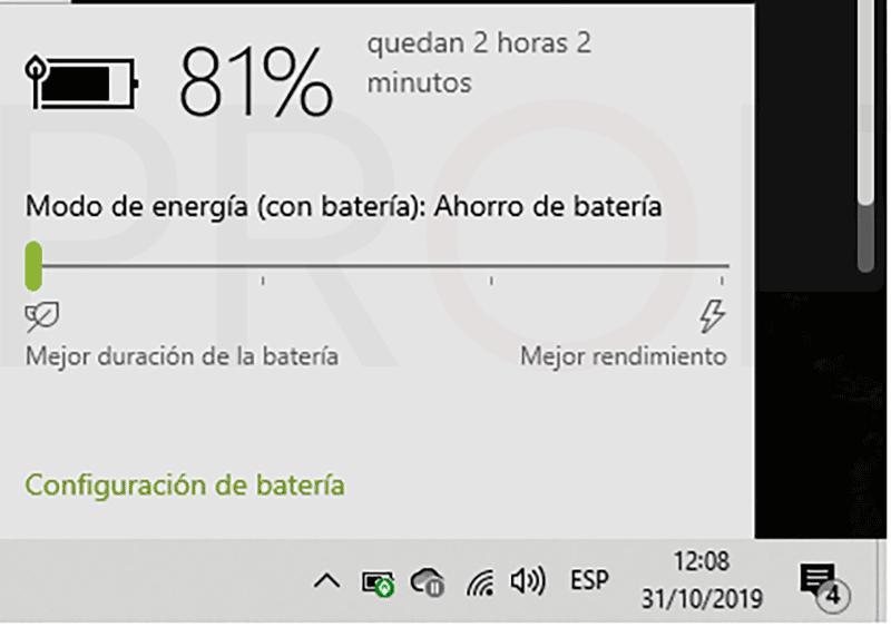 Calibrar la batería del portátil paso09