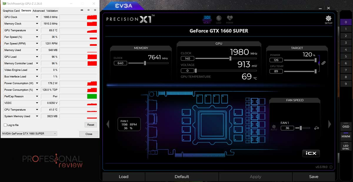 Gigabyte GTX 1660 Super Gaming OC Overclocking