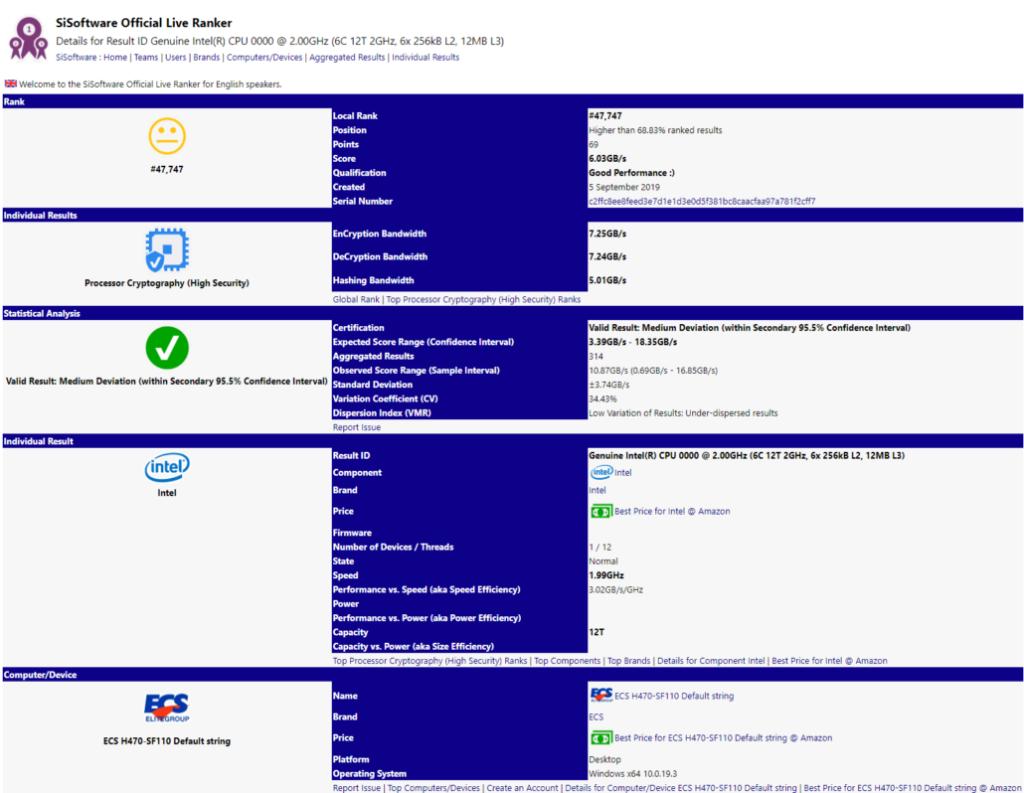 Intel Core i5 con 6 núcleos y 12 hilos