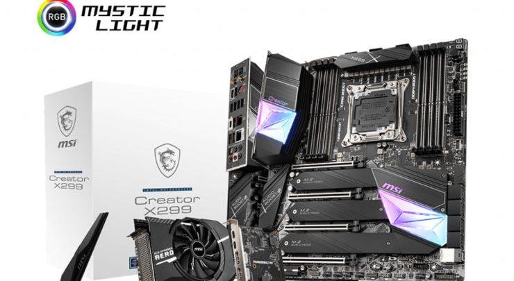 Photo of MSI Creator X299, Nueva placa base diseñada para Core X 10000