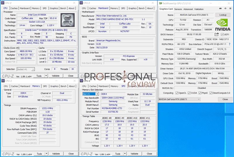 MSI Prestige P100 9 CPU-Z