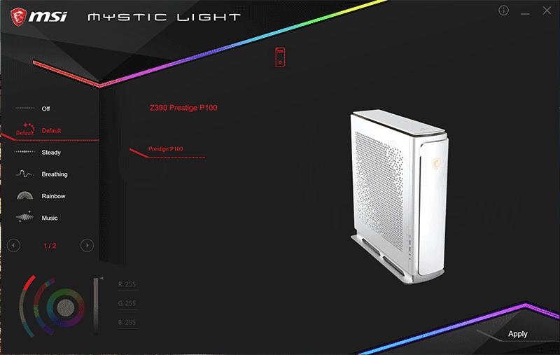 MSI Prestige P100 9 Software