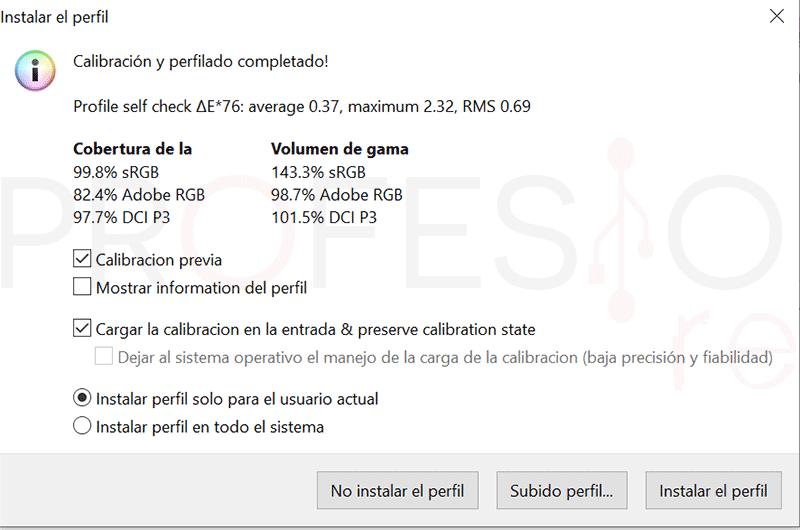 MSI Prestige PS341WU Calibración