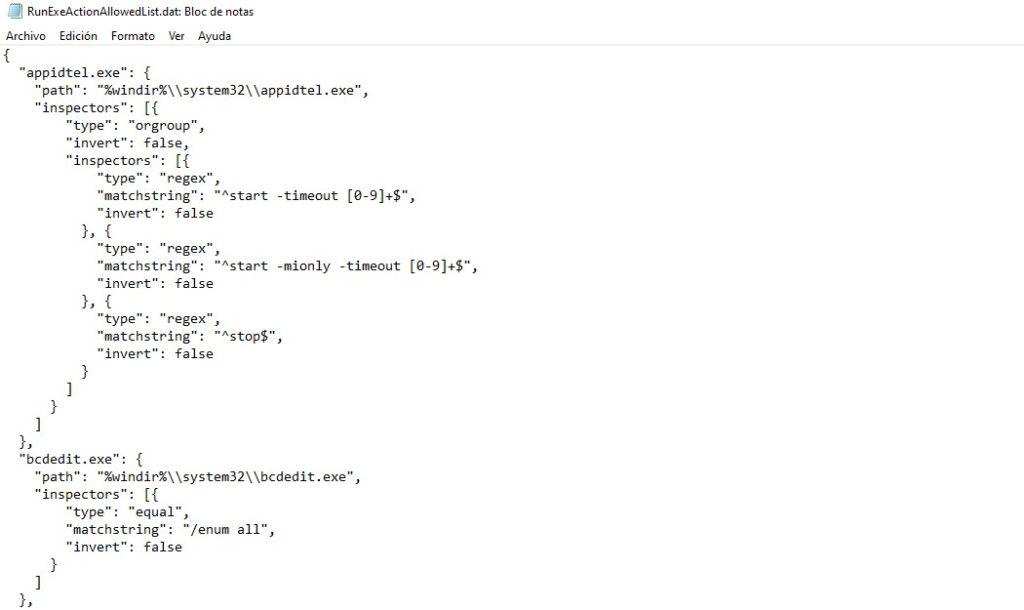 archivos .dat abiertos