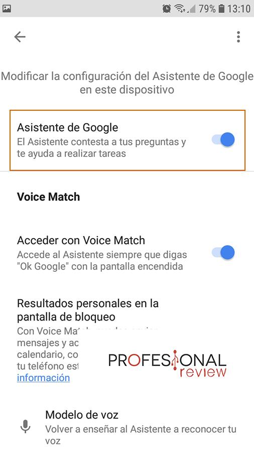 activar google assistant