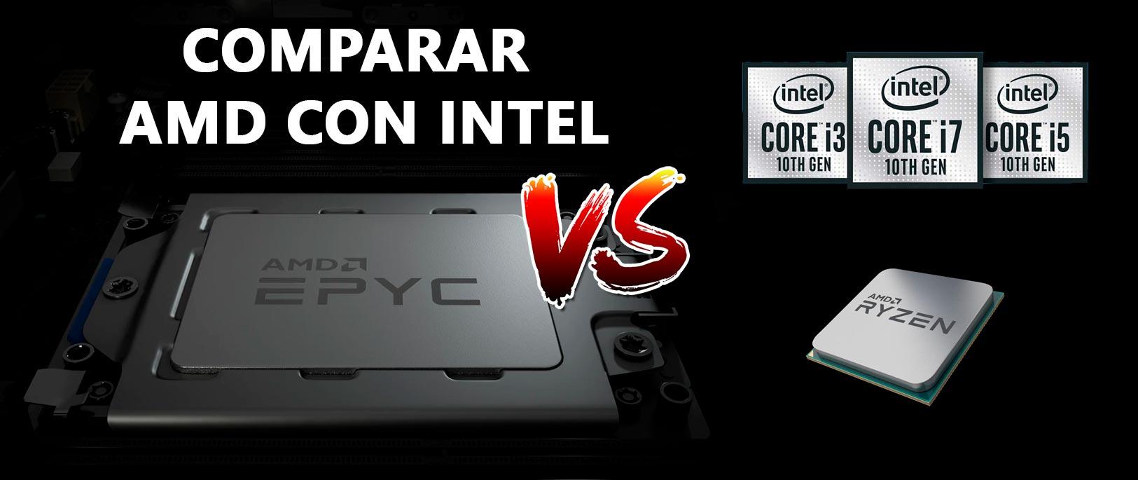 Cómo comparar procesadores AMD e Intel