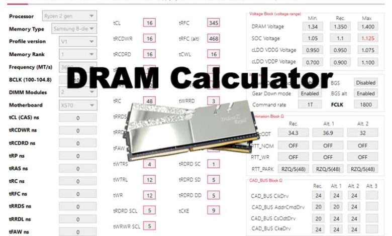 Photo of DRAM Calculator for Ryzen: Qué es, para que sirve y configurarlo