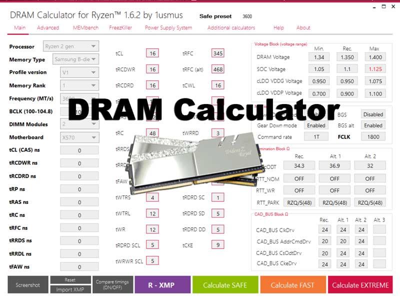 DRAM Calculator