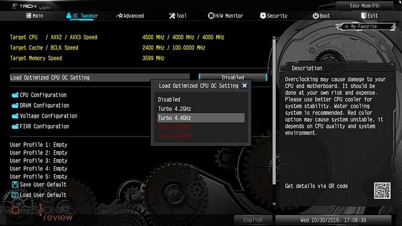 ASRock X299 Taichi CLX BIOS