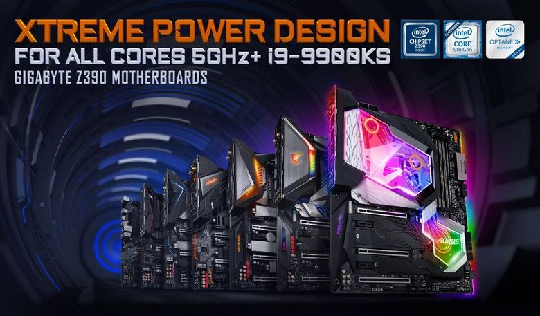 Photo of Gigabyte Z390, Nuevos modelos anunciados para soportar el i9-9900KS