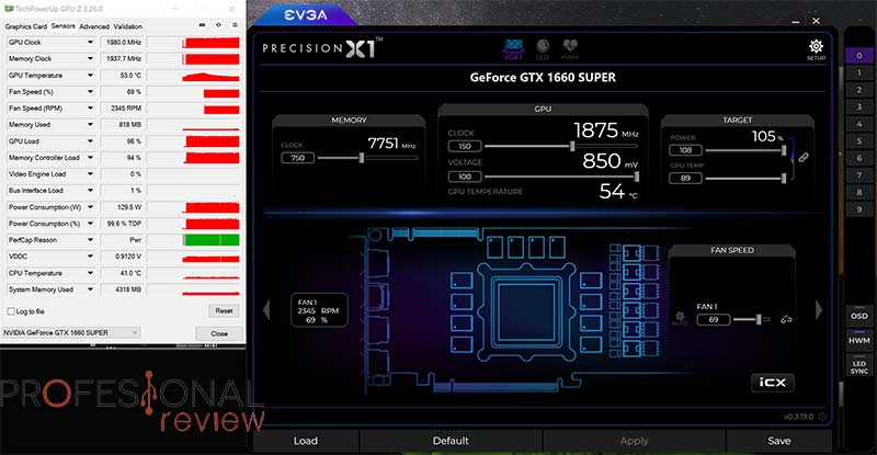 MSI GTX 1660 Super Gaming X Overclocking