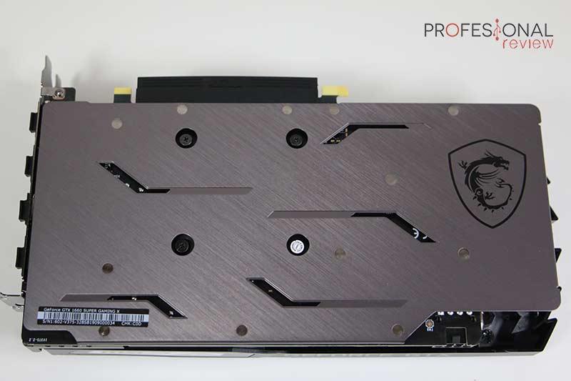 MSI GTX 1660 Super Gaming X Backplate