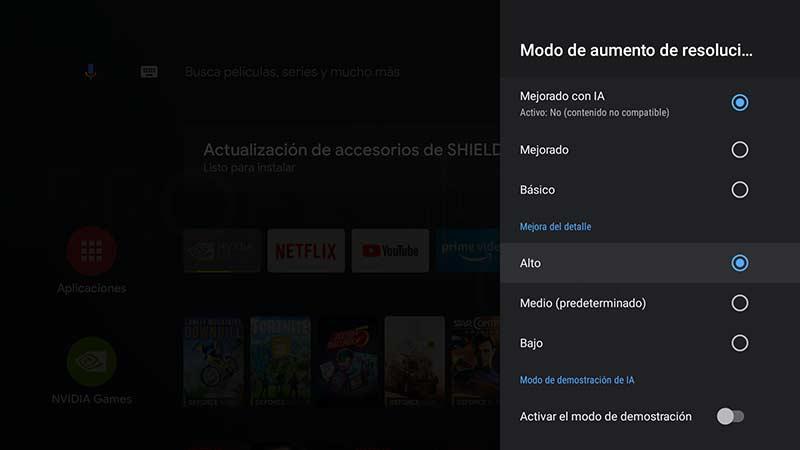 Nvidia SHIELD TV Pro Escalado IA