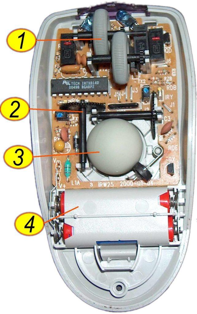limpiar un ratón bola