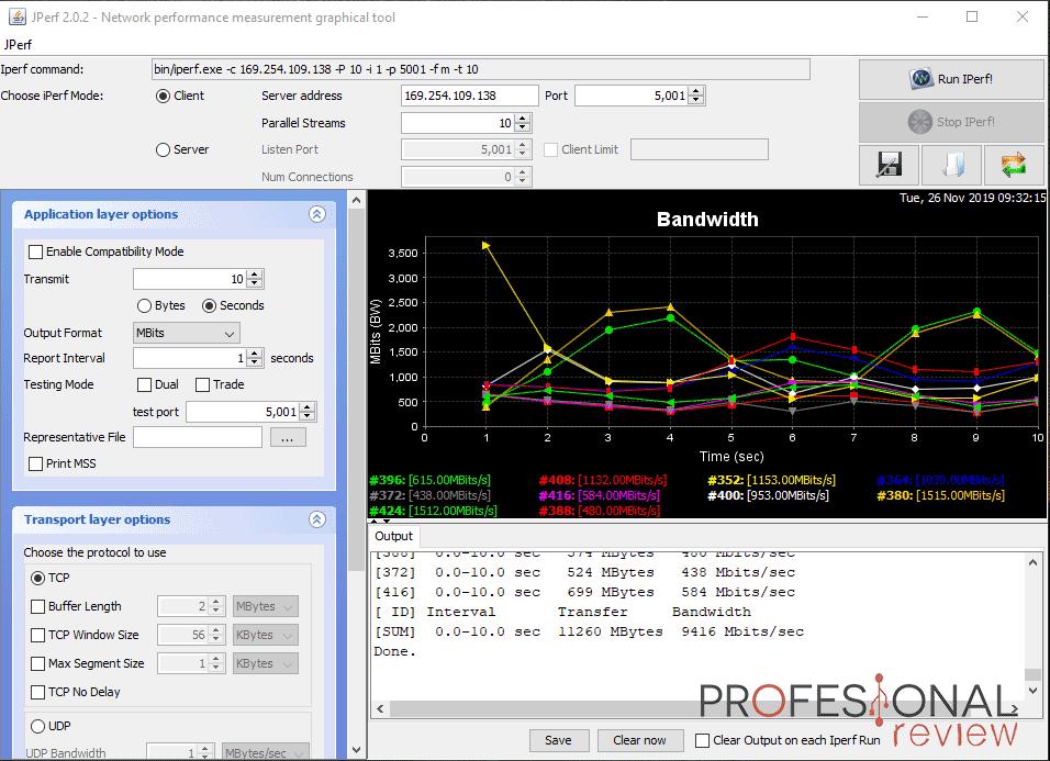QNAP QSW-1208-8C Ancho de banda