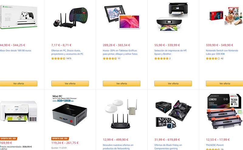 Black Friday hardware y tecnologías en Amazon Miércoles 27