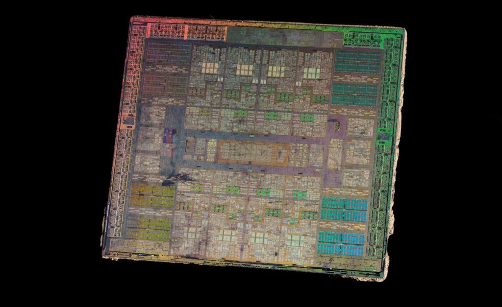 Interior del DIE de un Chip