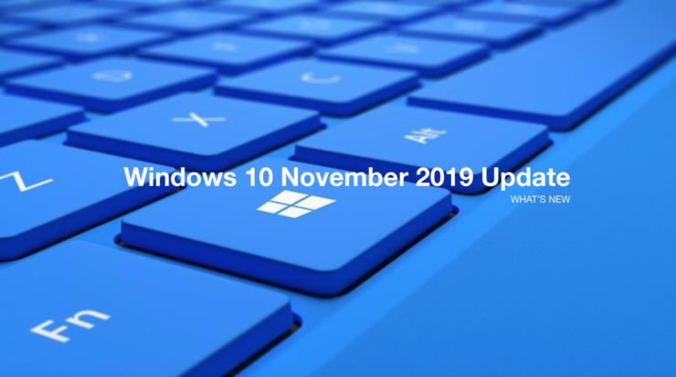 Photo of Microsoft lanza la actualización Windows 10 November 2019 (1909)