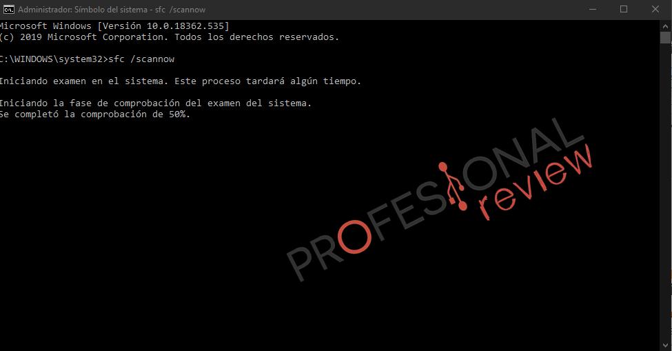 scannow error disco duro
