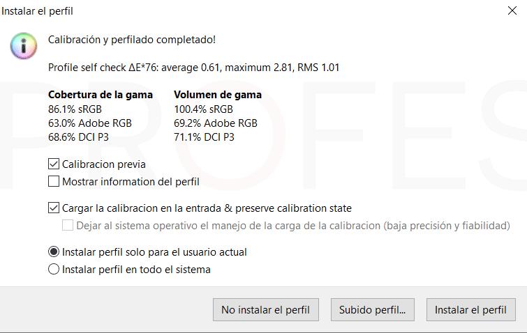 Asus ROG Zephyrus M GU502GV Calibración