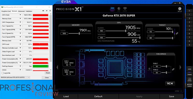 KFA2 RTX 2070 Super Work The Frames Edition Overclocking