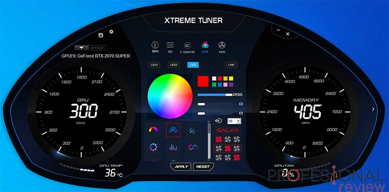 KFA2 RTX 2070 Super Work The Frames Edition Software