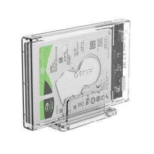Carcasa disco duro transparente