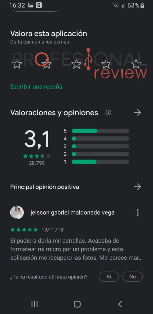 reseñas play store dr.fone